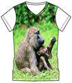 T- shirt de impresión personalizada al por mayor t- shirt de impresión