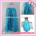 venta al por mayor nuevo niñas princesa de encaje azul vestidos y elsa anna bebé vestido de& ropa de los niños