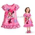 2014 de verano de moda más nuevo de minnie mouse diseño de vestido de los niños modelos