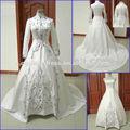 2014 elegante cristal de julie vino blanco musulmán turkisk de novia vestido de novia/zwe-41 vestido