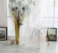 baratos francês branco plissado floral bordado cortinas de organza da cortina de tecido