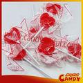 corazón en forma de caramelo del lollipop