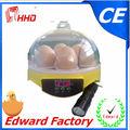 de alta calidad el mejor precio aprobado por la ce automático completo 7 huevos para incubar los huevos de gallina