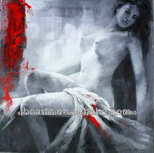 Pintura corporal arte abstracto femenino de la alta calidad, hermosa mujer desnuda al por mayor pintura al óleo
