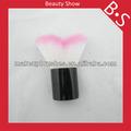 Nueva llegada de brocha kabuki forma de corazón cepillo libre de la muestra, maquillaje kabuki/cepillo cosmético, hecho en china
