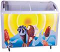 de deslizamiento superior abierta la puerta de vidrio vertical de gran capacidad del congelador en el pecho precio