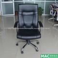 Elegante de respaldo alto tapizado silla de oficina en vinilo negro 1015h-b