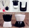 2014 aromatherapic preto& branco de purificadores de ar série dom conjunto queimador de óleo de cana/difusor da flor