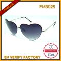 Fm3025 prime de matières premières en forme de coeur en métal lunettes de soleil en plein air& partie nécessité