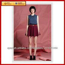 mujeres elegantes Una carta retro falda corta
