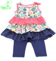 vestidos das meninas do bebê set famosas roupas de design de moda da marca 2.014 crianças nome roupas definir