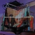 Transparente Interior y Exterior LED Pantallas Cortina Flexible Display