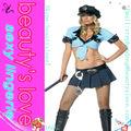 venta al por mayor sexy ladies fija uniforme de policía sexy
