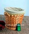 De juta lidar com salgueiro cesta de lavanderia