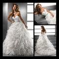 2013 nueva hermosa cara cariño vestido de bola hinchada vestido de novia de organza estilo con gran formación en línea 0009
