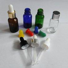 5ml-100ml ámbar, claro, verde, azul aceite esencial botella de vidrio