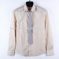 2014 100% algodão camisa masculina, mens camisa de manga longa com gravata