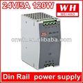 120w 24v carril din de ca regulador de voltaje de corriente alterna a corriente alterna de suministro de energía