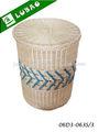 lavanderia cesta de vime com tampa