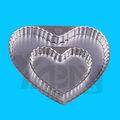 Corazón en forma de flan de pan