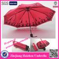 fabricante de china de fábrica 3 paraguas veces