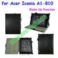 Learther material de despertador Caja elegante para Acer Iconia A1-810 con el envase de la pluma