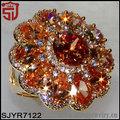zirconia champán de oro dedo anillos anillo de diseño para mujeres con el precio
