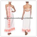 Algodón puro del hombro de vestidos de noche para las mujeres gordas( ylq03260)