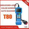 Directamente de la fábrica de problemas lector de código de auto scan tool t80 para los coches, luz de camiones y suvs