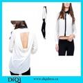 2014 otoño diseño de moda barata señoras blusas de gasa para la grasa