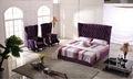 2014 cama de tela con cabecera alta cristalino brillante