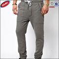 los hombres más reciente diseño de paño grueso y suave de algodón elástico de la cintura casual pantalones de deporte