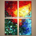 hecho a mano al por mayor colorido textura de la pintura abstracta de los diseños para la decoración