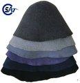 Top qualidade 100% feltro de lã chapéu capa, chapéu de lã de corpos