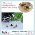 Beadsnice ID 26651 Zakka Limpar Hand Blown inferior Esferas de vidro redonda cai garrafa de vidro