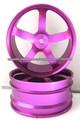 Neumáticos de coche RC Rueda trasera de aluminio 1/10 para coche Buggy (60010)