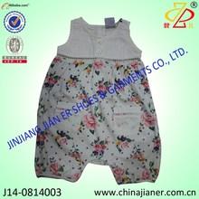 lindo diseño de venta al por mayor bebé mameluco manga corta bebé mameluco