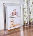 8x10 Marco de fotos de vidrio de doble cara