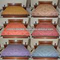 Indiana artesanal de seda bordado à mão thread colcha, bordados étnicos dupla cama colchas tamanho