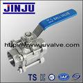 SS304 inoxydable 3pc socket weld balle norme M3 acier vanne DIN 1000 PSI DN20 de produits en Chine avec le meilleur prix