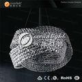 lámpara pendiente de la lámpara de cristal redonda moderna