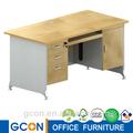 doble pedestales los escritorios de oficina de madera acabado