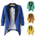 de la mujer de la solapa costura delgado traje chaqueta de abrigo de china fabricante