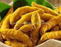 producto agrícola dedos cúrcuma