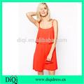 lovely señoras con gradas espaguetis correa en capas vestidos de verano nuevos vestidos