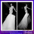 El último diseño de moda nuevo sexy corpiño de encaje falda de tul encaje sirena sin respaldo vintage vestido de novia