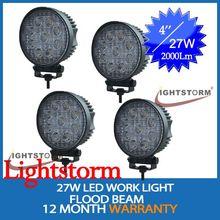 Accesorios 4*4 super brillante lámpara led de trabajo 27w camiones led de luz de trabajo
