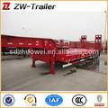 China caliente venta 60 toneladas de acero al carbono tri- ejes camión de cama baja semi tralier