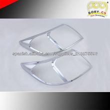 Bory_cs accesorios del coche del cromo de la cabeza cubierta de la lámpara para TOYOTA HILUX 2012