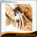 Negro gotic antiguo collar pulseras de macrame